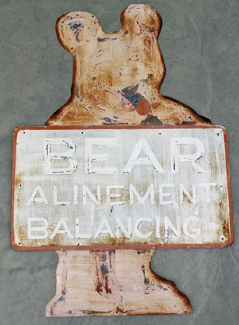 VINTAGE BEAR ALIGNMENT SIGN