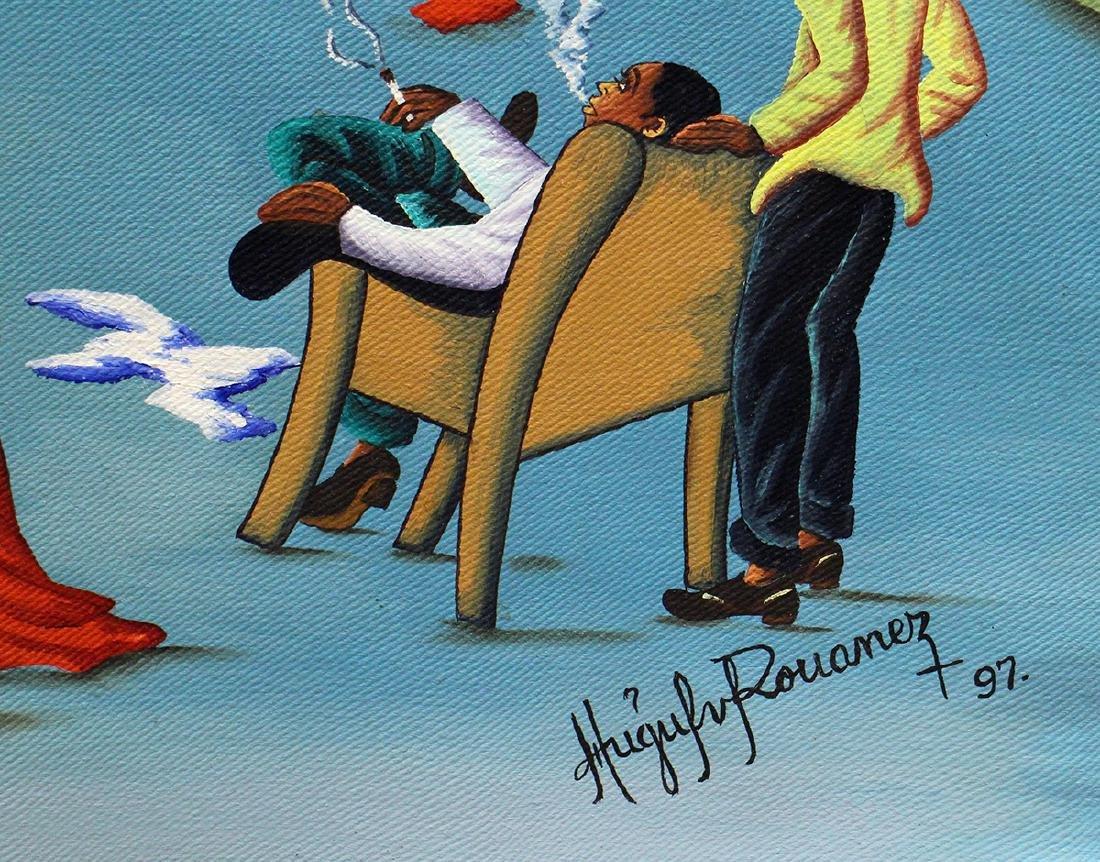 HUGH GUY ROUANEZ HAITIAN PAINTING - 3