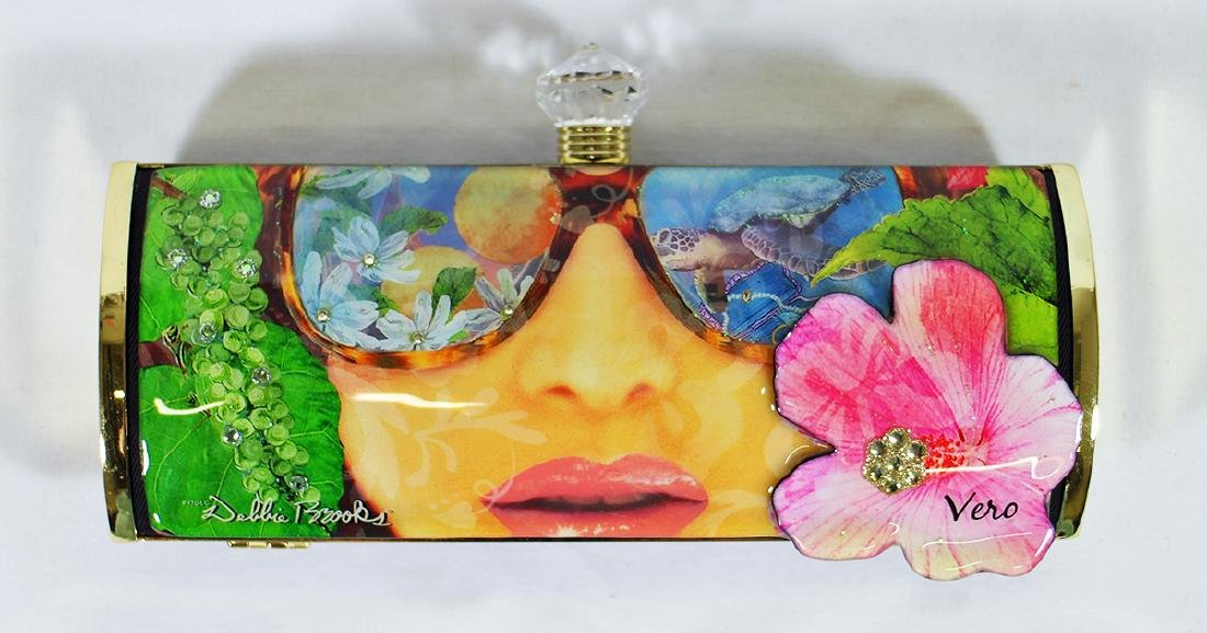 DEBBIE BROOKS COLLECTION VERO BEACH CLUTCH PURSE