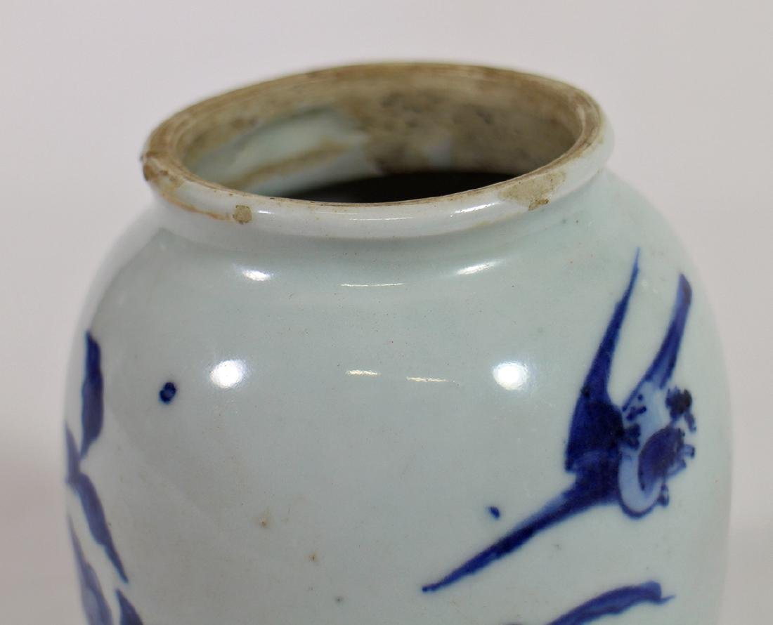 CHINESE BLUE & WHITE VASE - 3