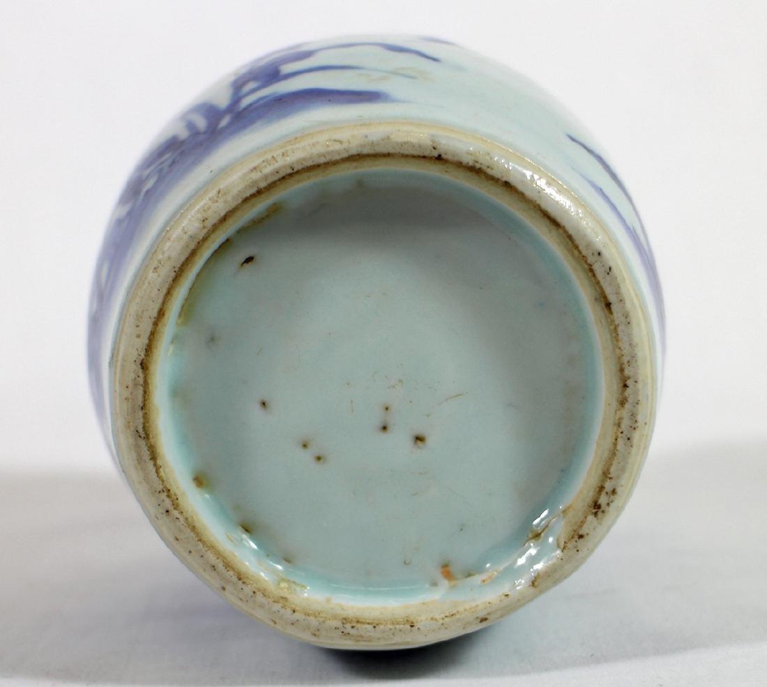 CHINESE BLUE & WHITE VASE - 4