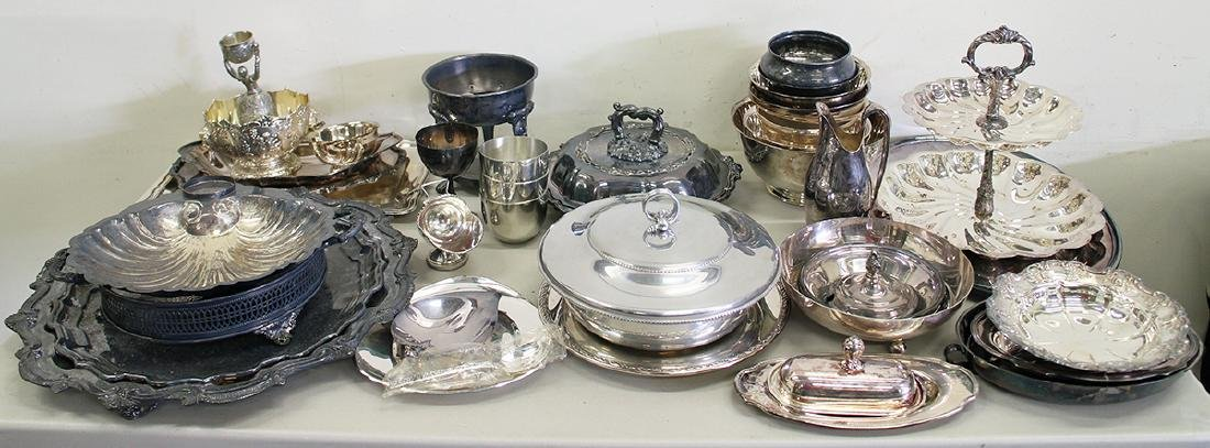 LARGE SILVERPLATE COLLECTION