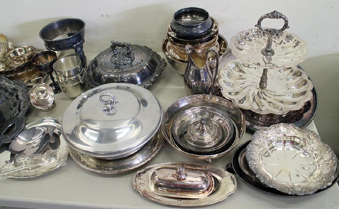 LARGE SILVERPLATE COLLECTION - 2