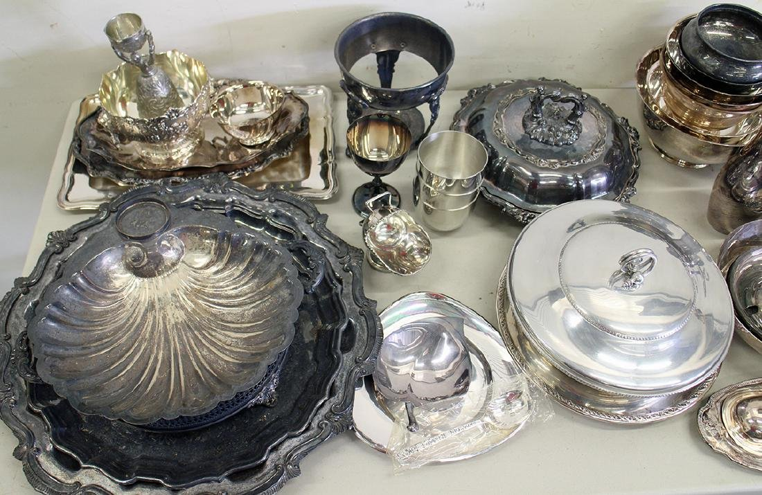 LARGE SILVERPLATE COLLECTION - 3