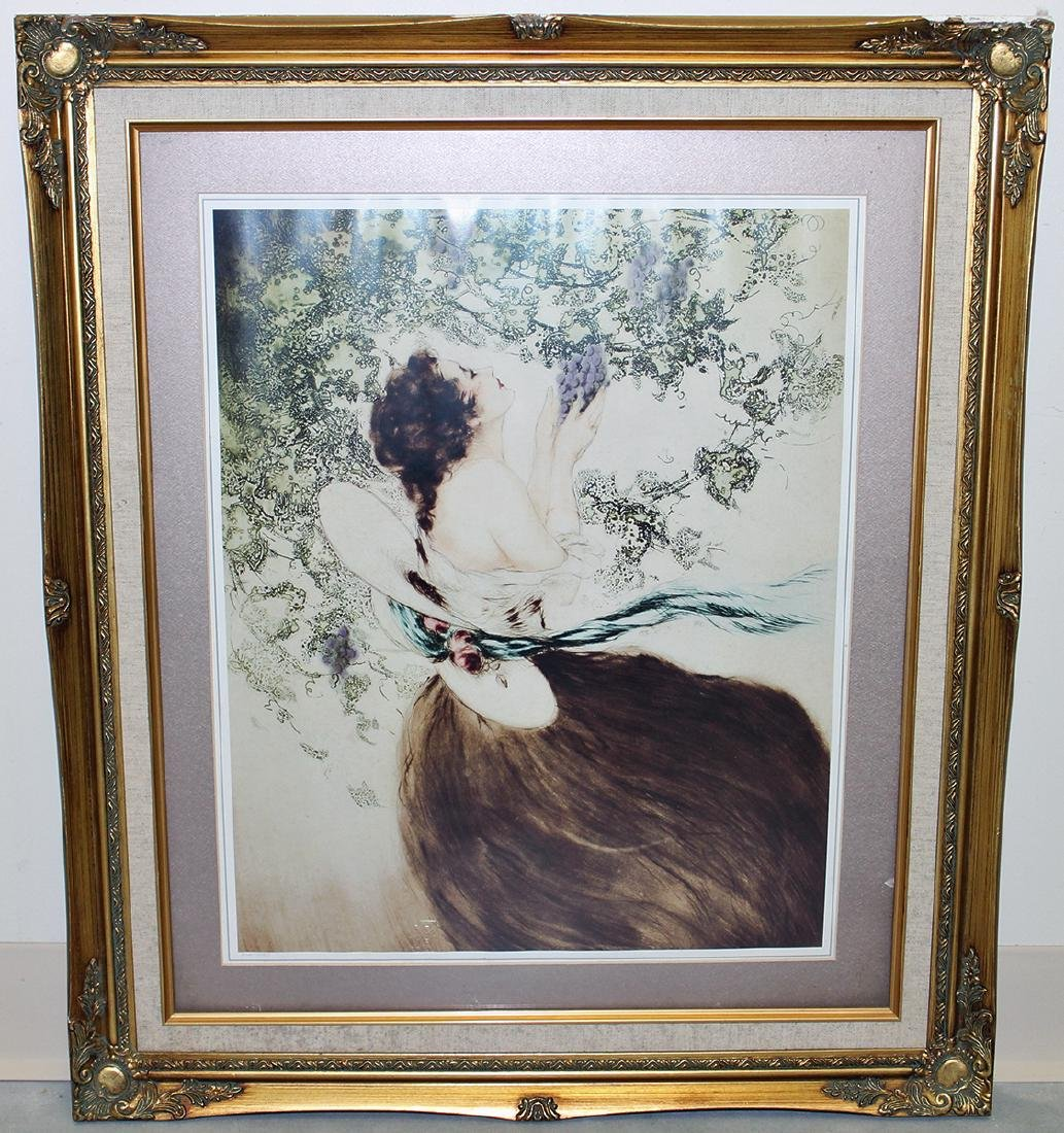LOUIS ICART WOMAN WITH GRAPES