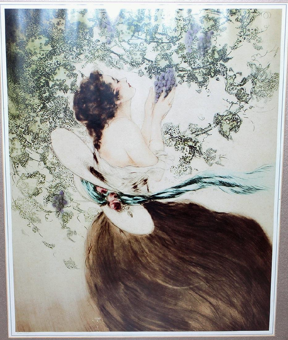 LOUIS ICART WOMAN WITH GRAPES - 2