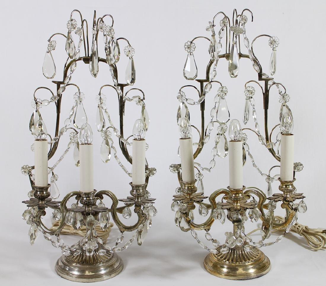 (2) VINTAGE CANDELABRA LAMPS
