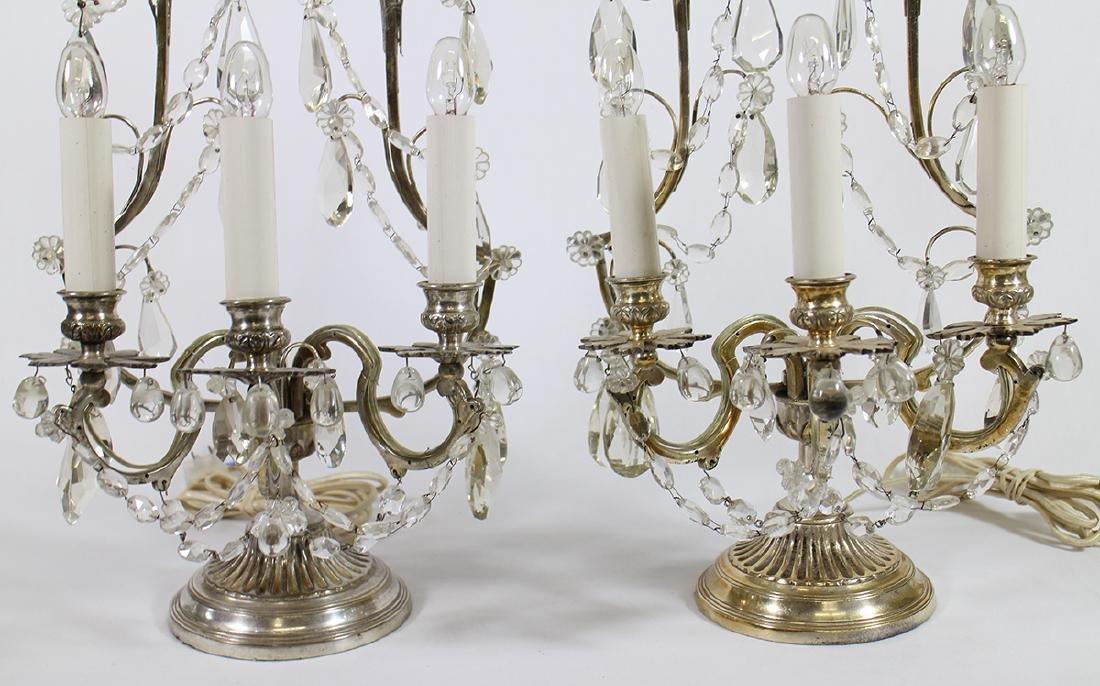 (2) VINTAGE CANDELABRA LAMPS - 3