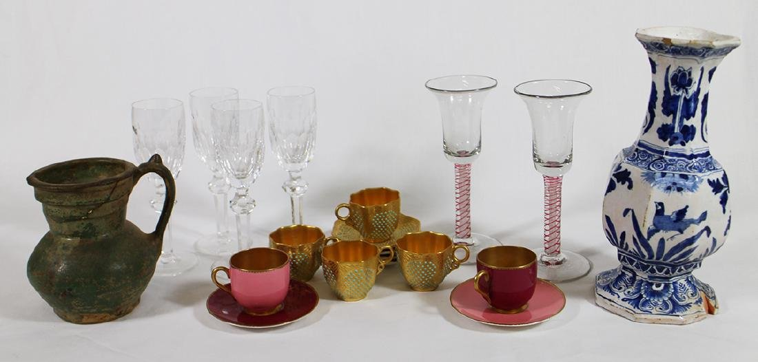 HAND BLOWN GLASSES, WATERFORD, DEMITASSE, & MORE