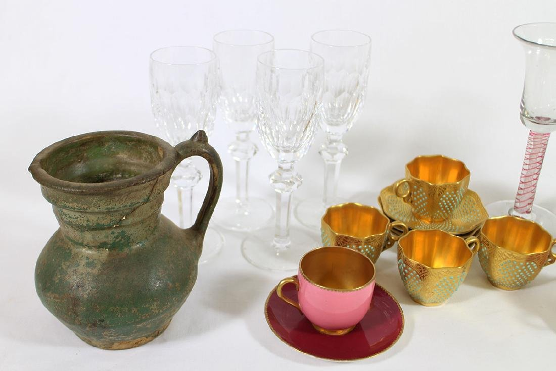 HAND BLOWN GLASSES, WATERFORD, DEMITASSE, & MORE - 2