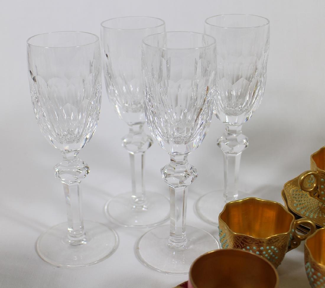 HAND BLOWN GLASSES, WATERFORD, DEMITASSE, & MORE - 3