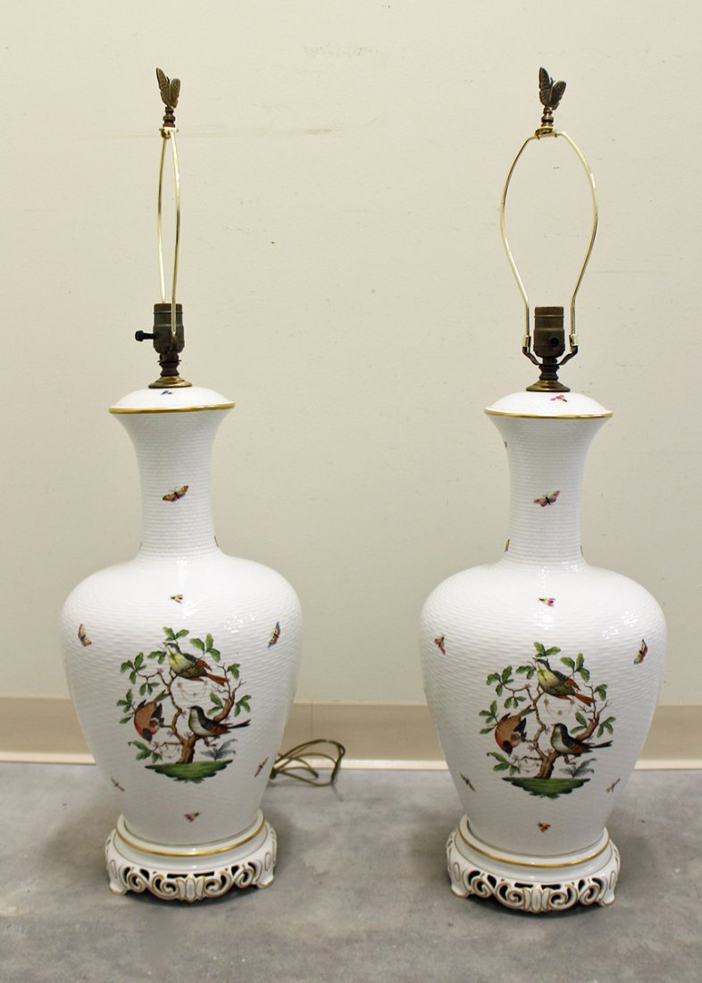 (2) HEREND ROTHSCHILD LAMPS