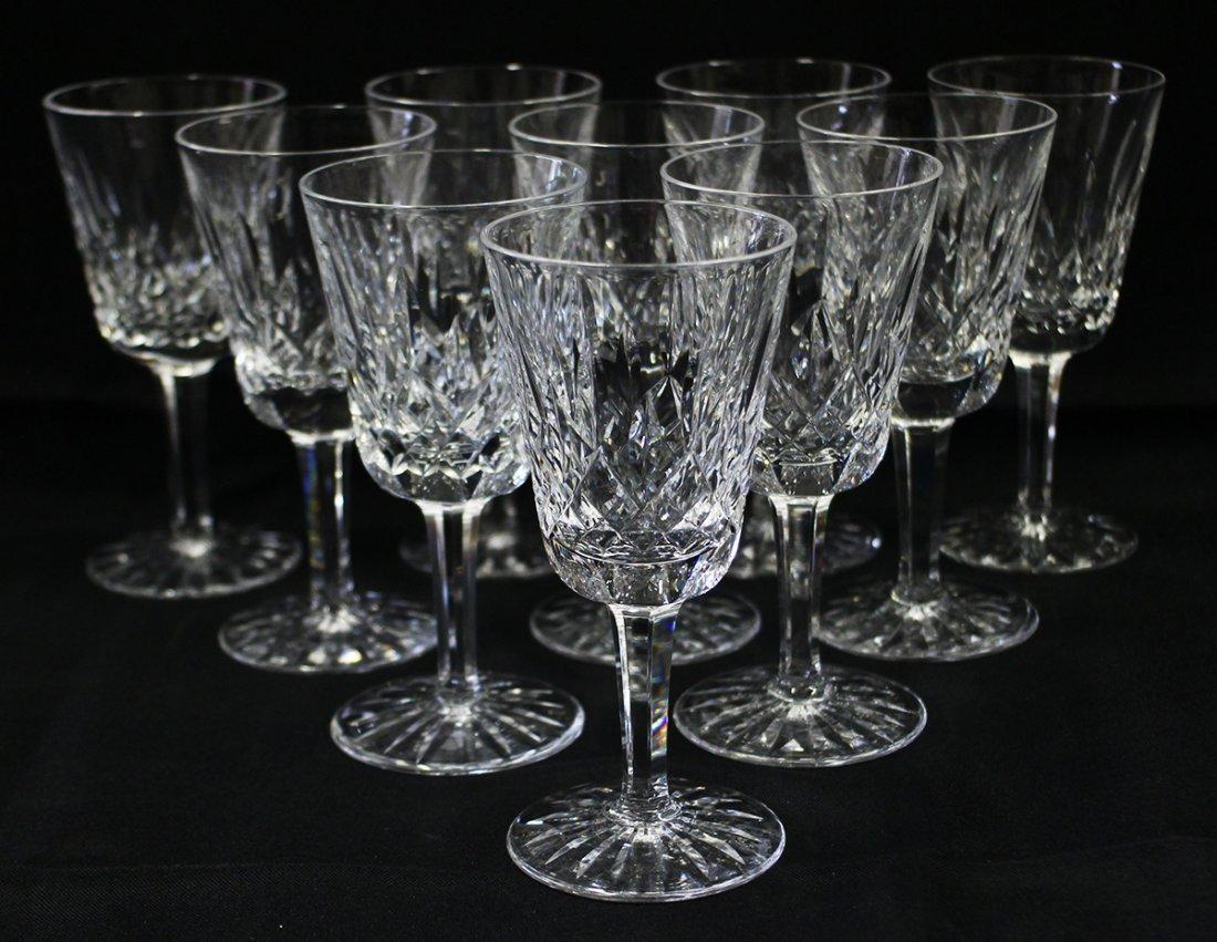(10) WATERFORD LISMORE WINE GLASSES