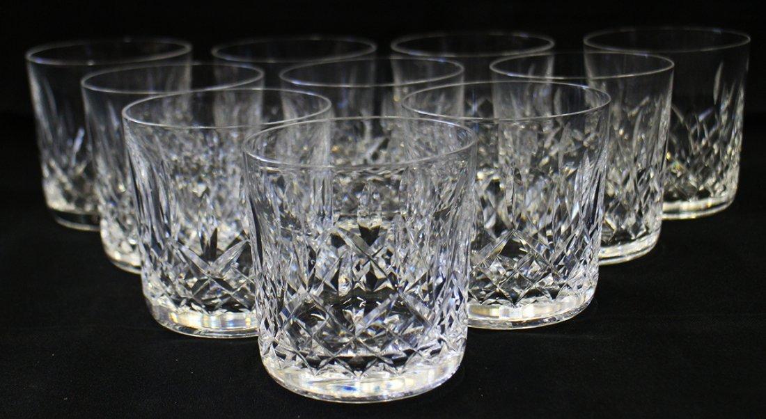 (10) WATERFORD LISMORE TUMBLER ROCKS GLASSES
