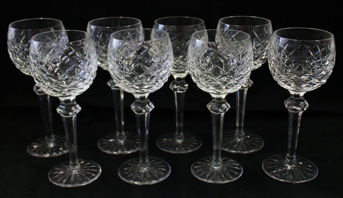 (8) WATERFORD POWERSCOURT WINE HOCK GLASSES