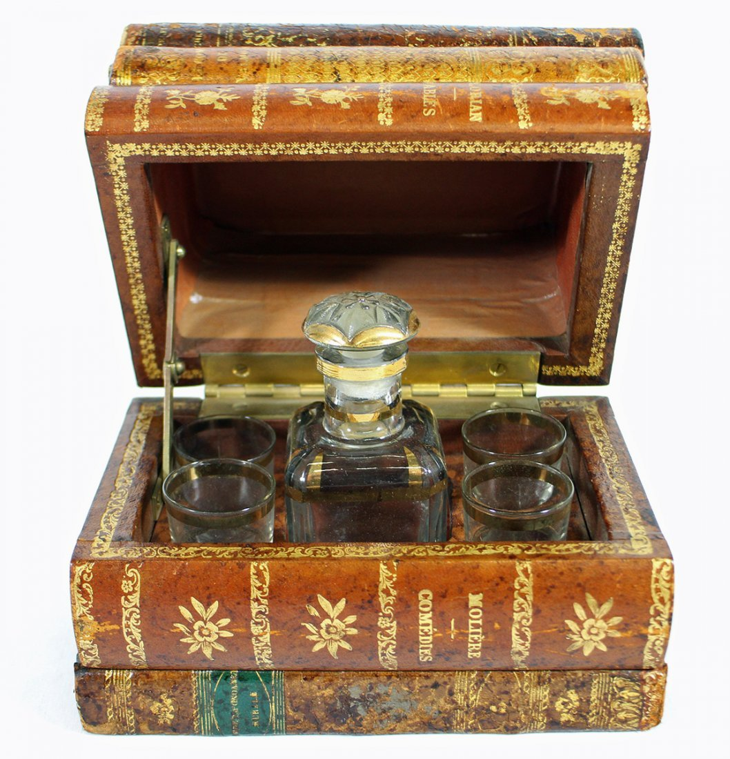 FRENCH TANTALUS HIDDEN DECANTER BOOK
