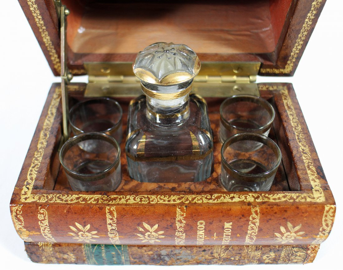 FRENCH TANTALUS HIDDEN DECANTER BOOK - 2