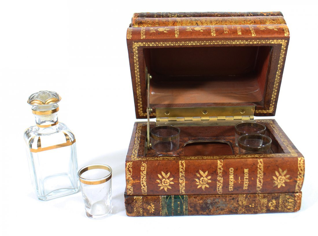 FRENCH TANTALUS HIDDEN DECANTER BOOK - 3