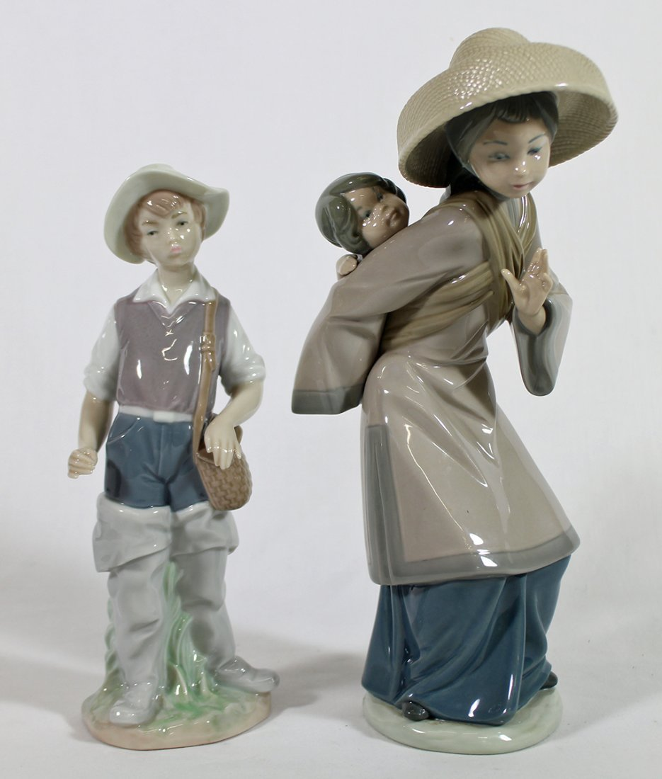 (2) LLADRO FIGURINES