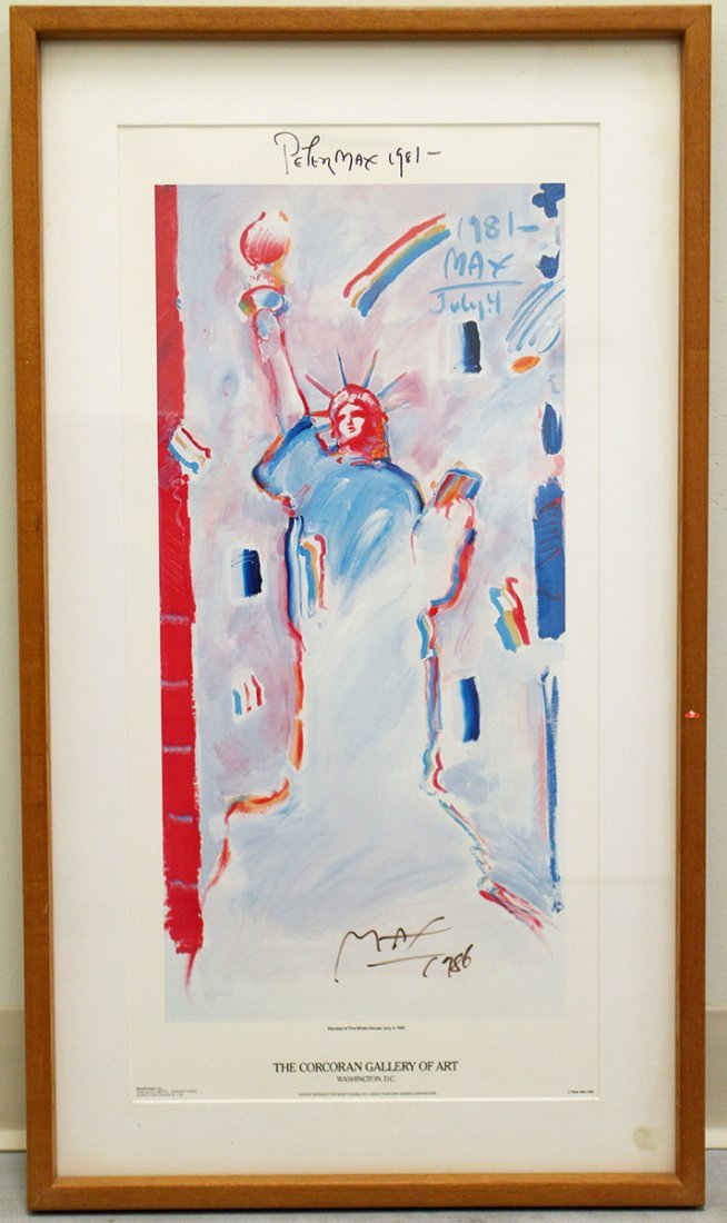 PETER MAX THE CORCORAN GALLERY OF ART POSTER
