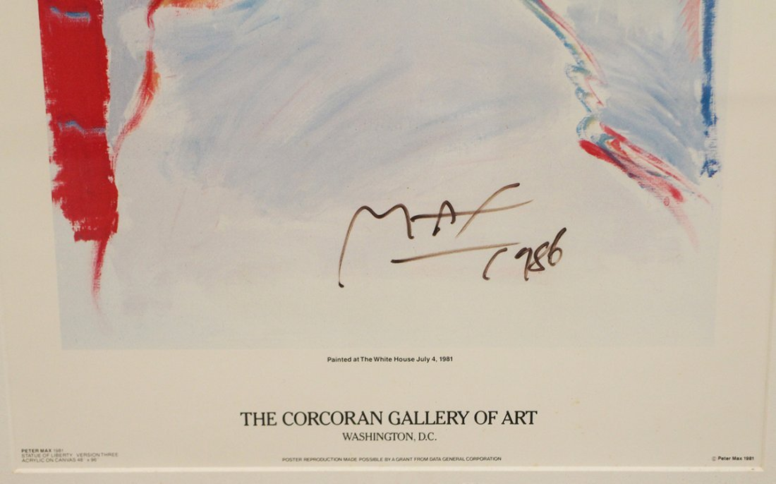 PETER MAX THE CORCORAN GALLERY OF ART POSTER - 3