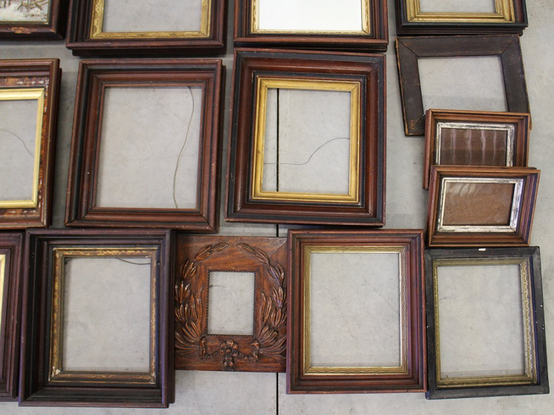(15) ASSORTED ANTIQUE WOOD FRAMES - 2