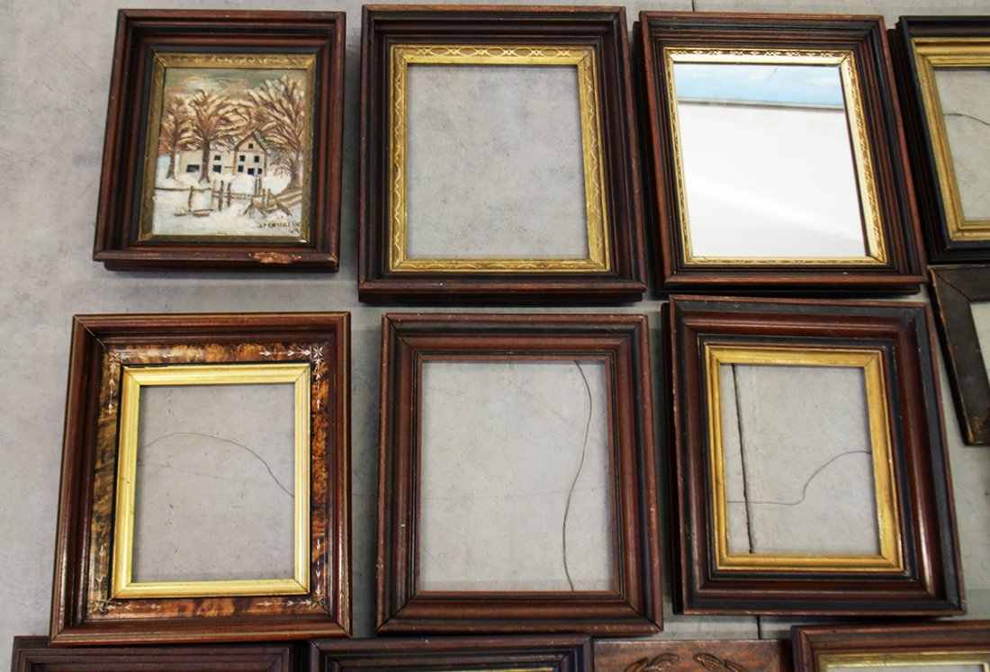(15) ASSORTED ANTIQUE WOOD FRAMES - 3