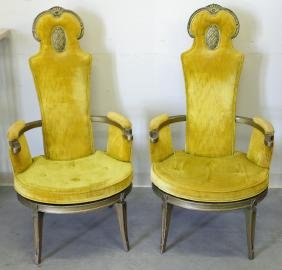 (2) HOLLYWOOD REGENCY CHAIRS