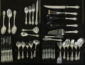 83 PC LUNT ELOQUENCE STERLING FLATWARE SET