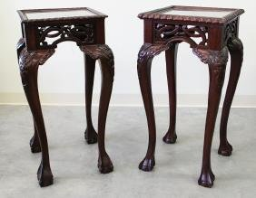 (2) CHINESE WOOD PLANT STANDS