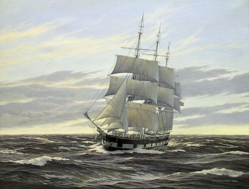 CHARLES F. KENNEY LONG VOYAGE HOME PAINTING