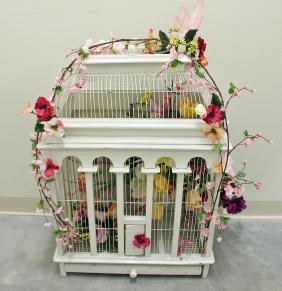 VINTAGE VICTORIAN STYLE BIRD CAGE