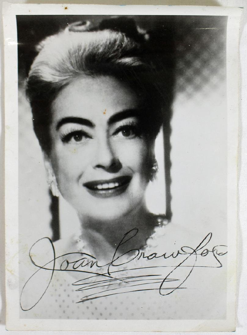 JOAN CRAWFORD AUTOGRAPHED PHOTOGRAPH