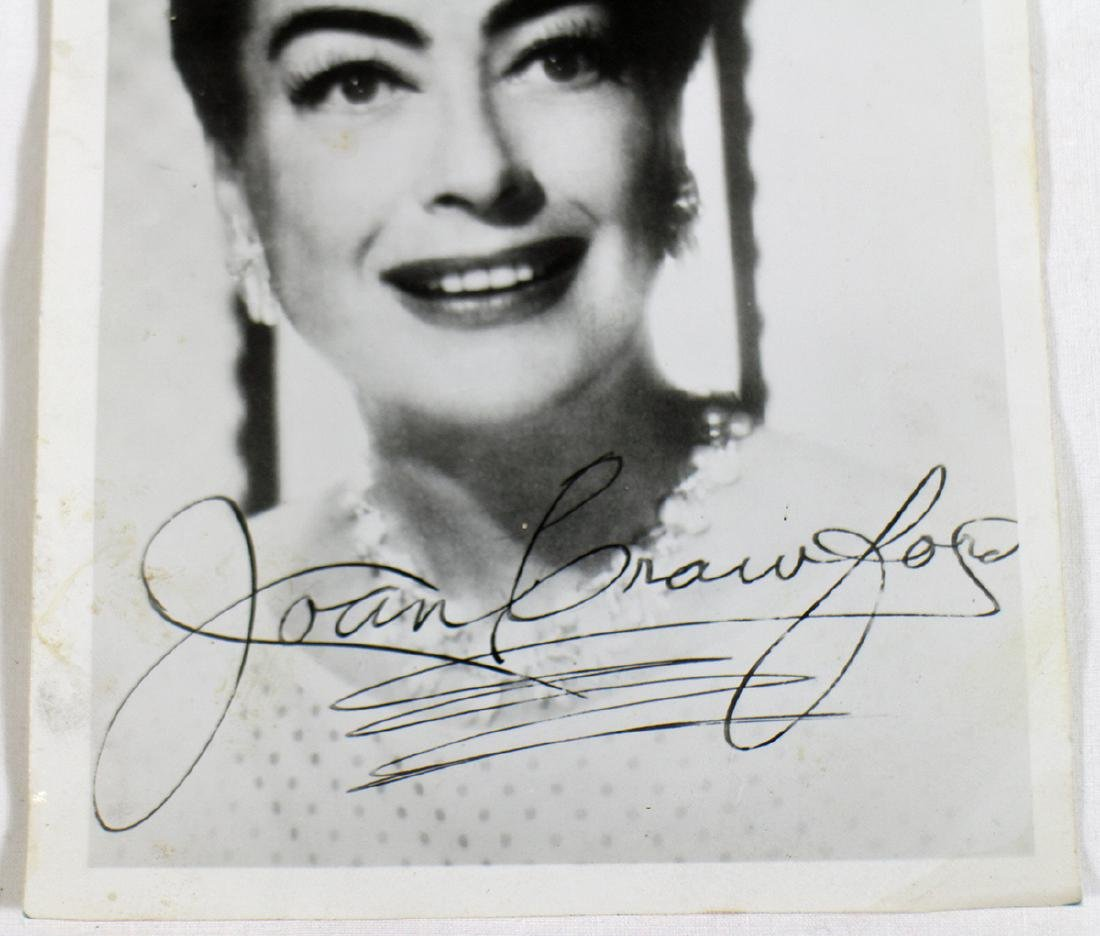 JOAN CRAWFORD AUTOGRAPHED PHOTOGRAPH - 2