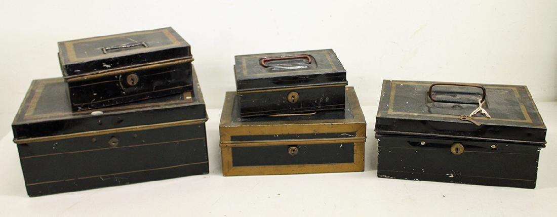 VINTAGE METAL CASH BOXES