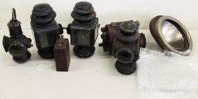 ANTIQUE FORD CAR SIDE & REAR LAMPS, HEADLIGHTS, & PARTS