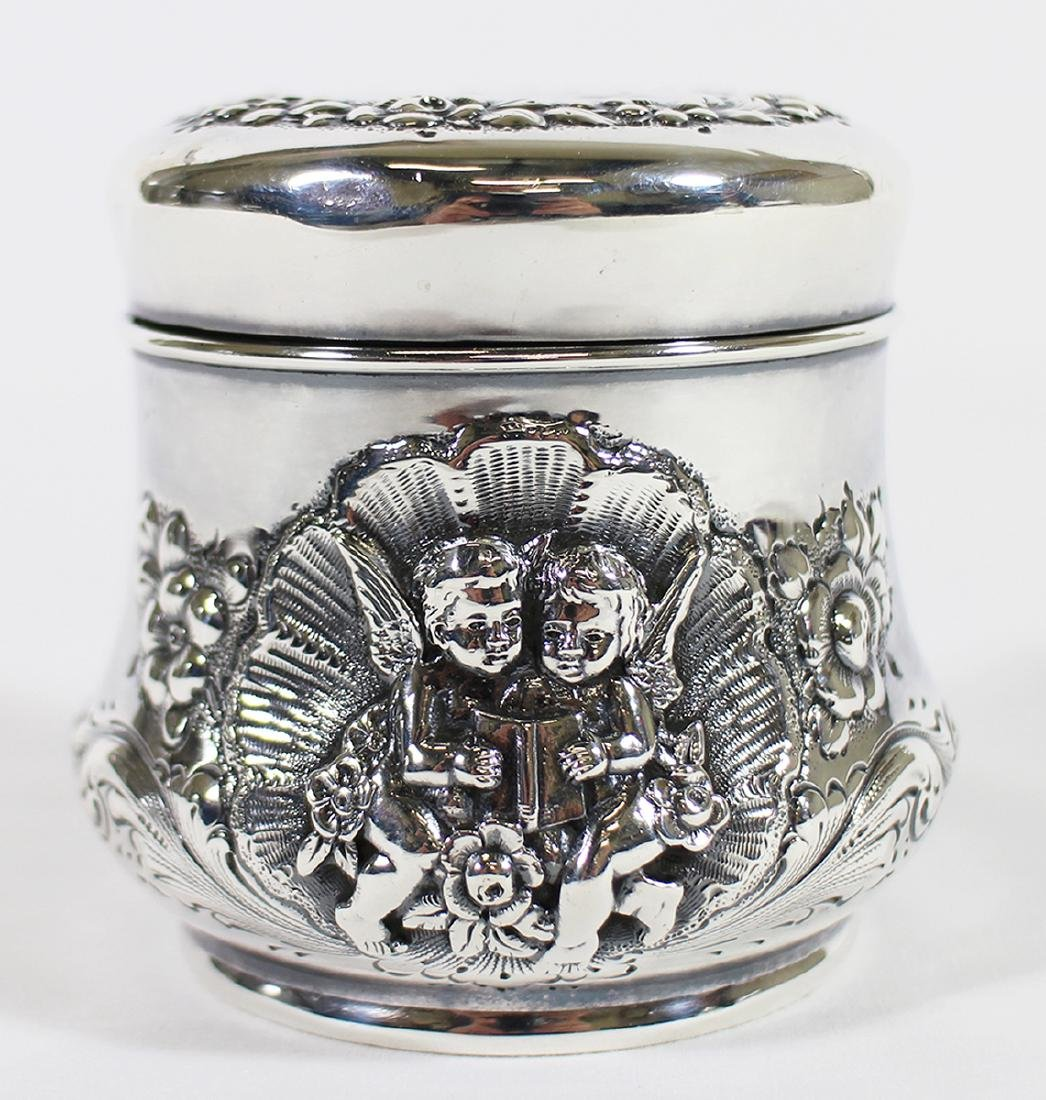 19TH CENTURY STERLING SILVER TEA CADDY