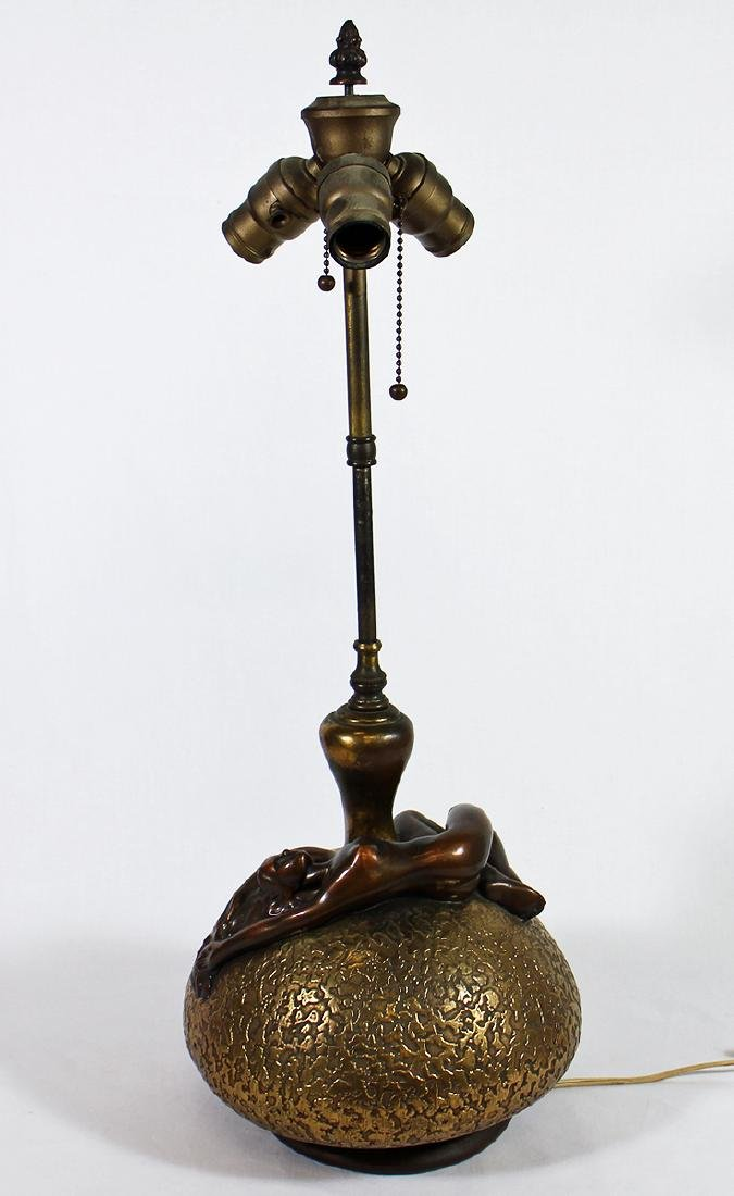 ART DECO NUDE FIGURE LAMP