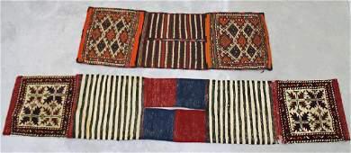 (2) VINTAGE PERSIAN CAMEL SADDLE BAGS