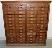 19TH CENTURY LIBRARY CARD INDEX CABINET