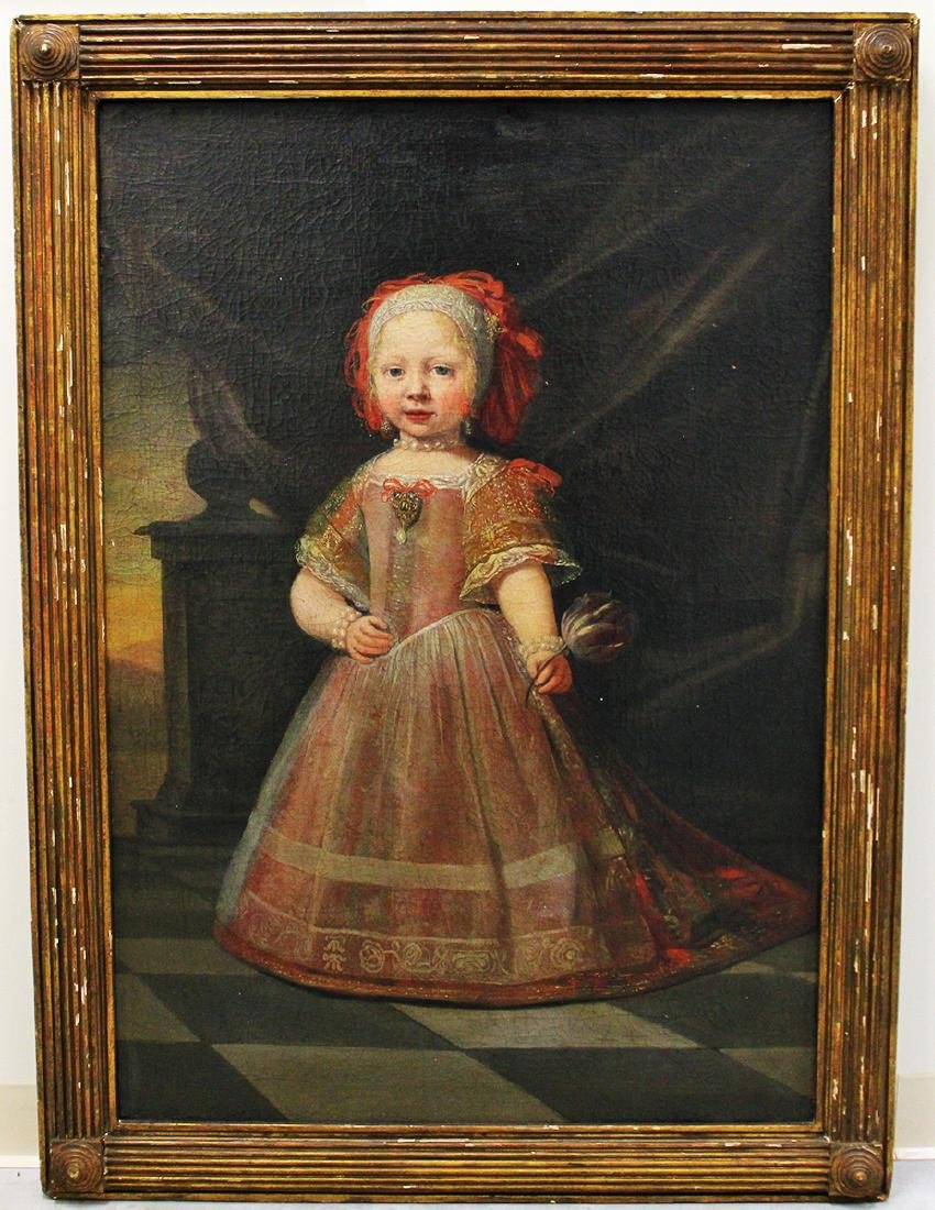 18TH CENTURY PORTRAIT PAINTING OF YOUNG PRINCESS