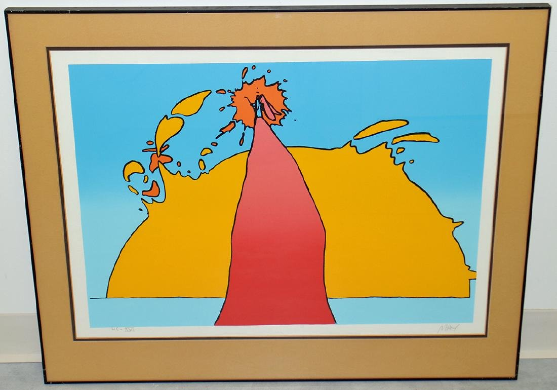 """PETER MAX """"HIS OWN ECLIPSE"""" SERIGRAPH"""