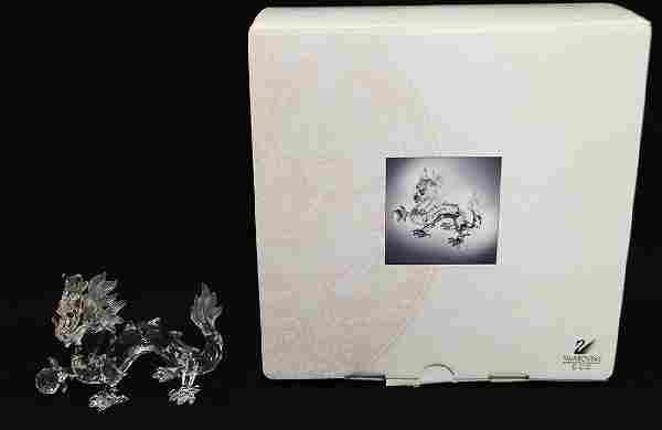 SWAROVSKI CRYSTAL DRAGON FIGURINE W/ BOX