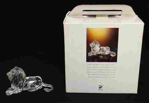SWAROVSKI CRYSTAL LION FIGURINE W/ BOX