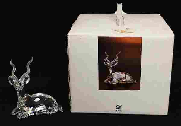 SWAROVSKI CRYSTAL KUDU FIGURINE W/ BOX