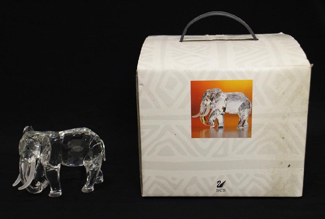 SWAROVSKI CRYSTAL ELEPHANT FIGURINE W/ BOX
