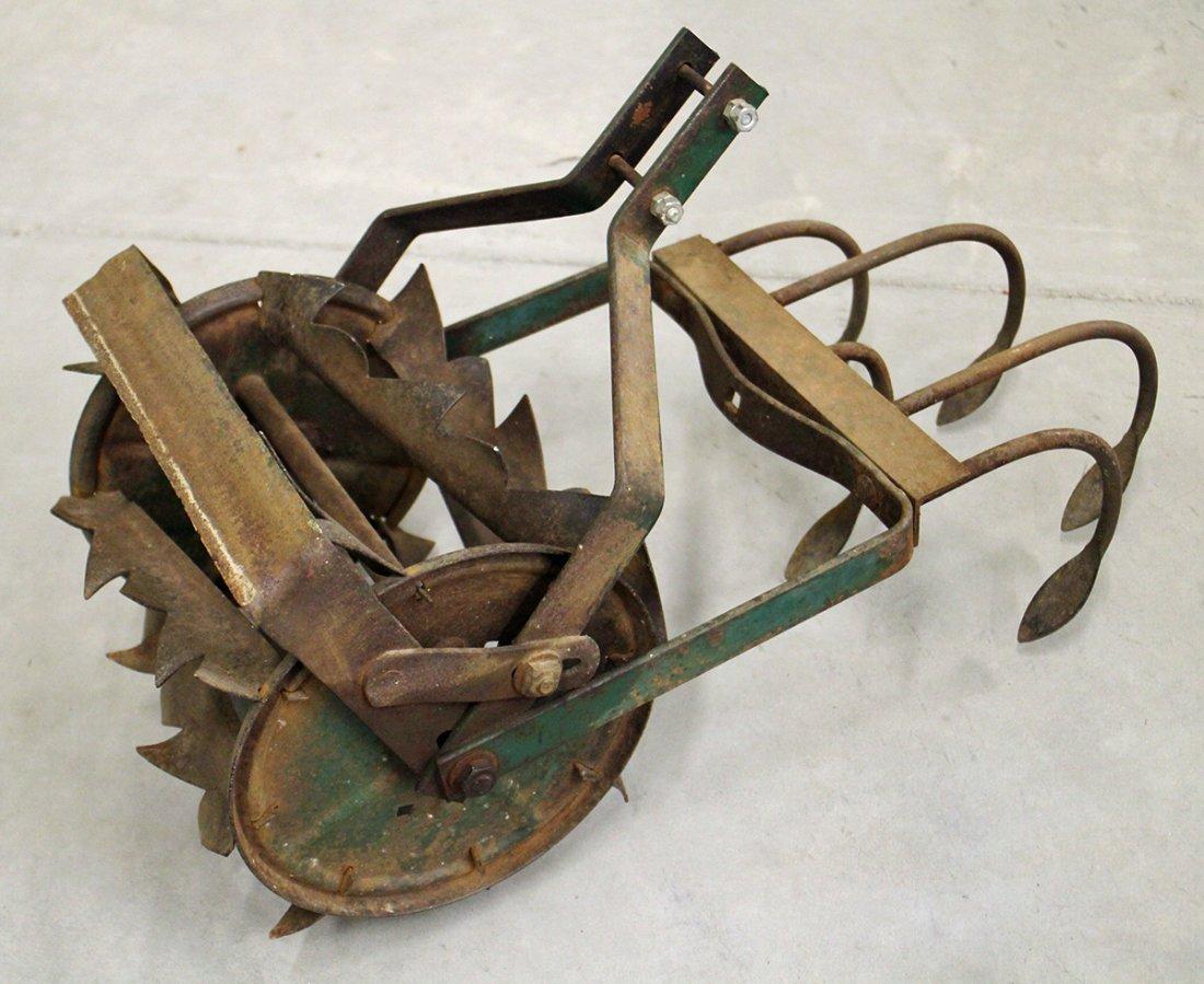 Antique Hand Push Cultivator Tiller Roho Plow
