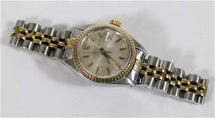 LADIES 14K GOLD  STAINLESS ROLEX WATCH