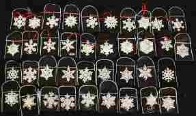 (38) GORHAM STERLING CHRISTMAS SNOWFLAKE ORNAMENTS