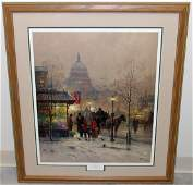 "G. HARVEY ""A NATION BLESSED"" LITHOGRAPH"